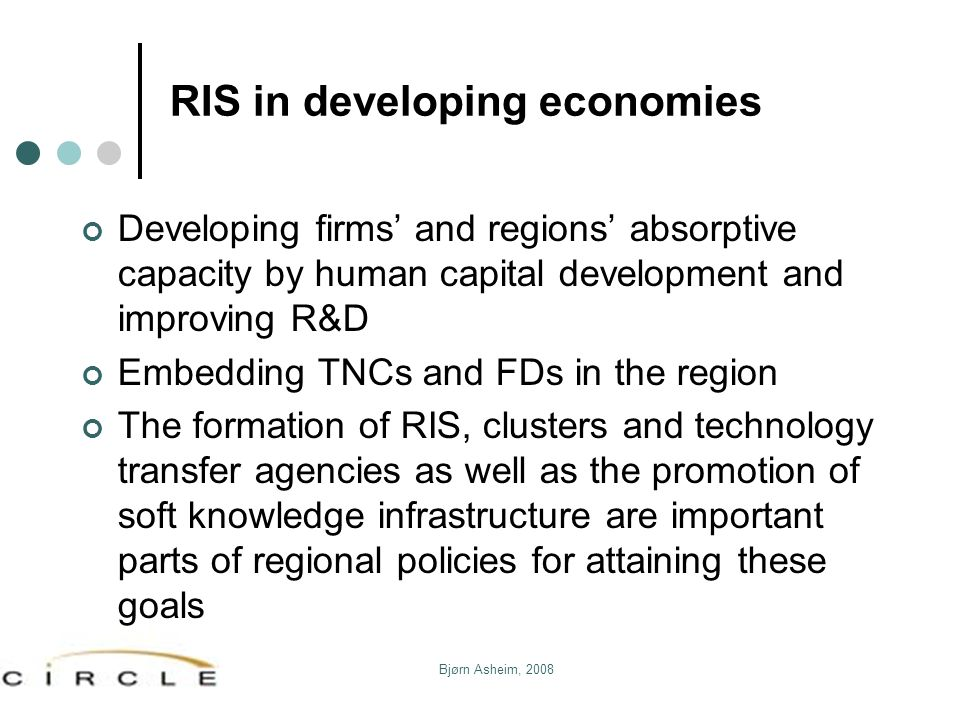 RIS in developing economies