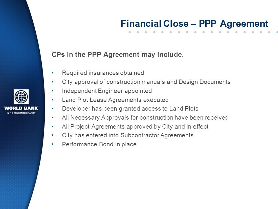 Financial Close – PPP Agreement