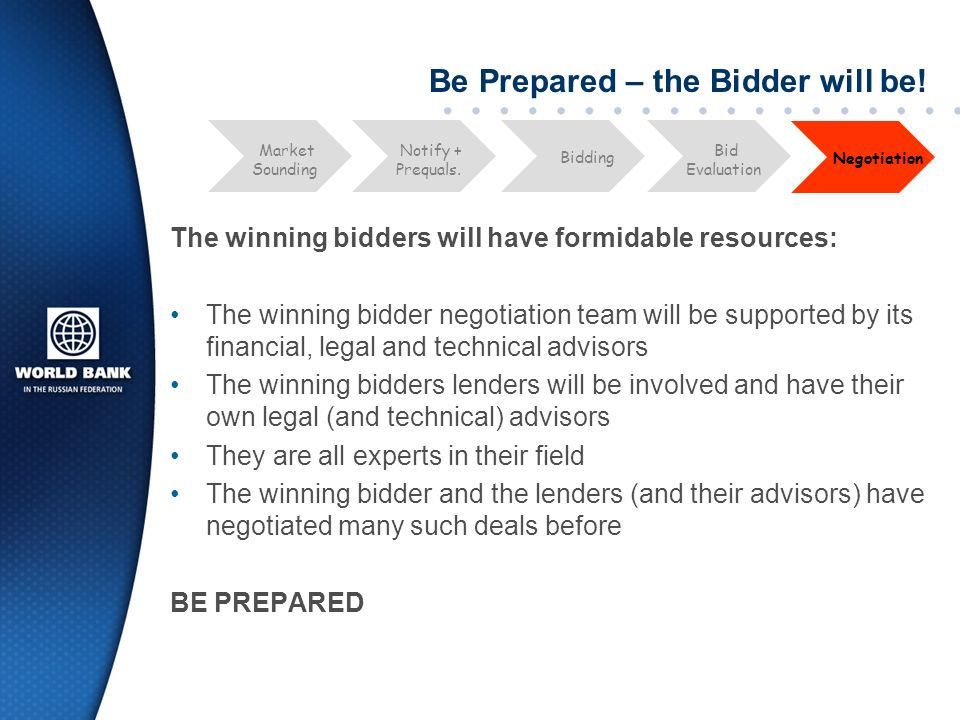 Be Prepared – the Bidder will be!