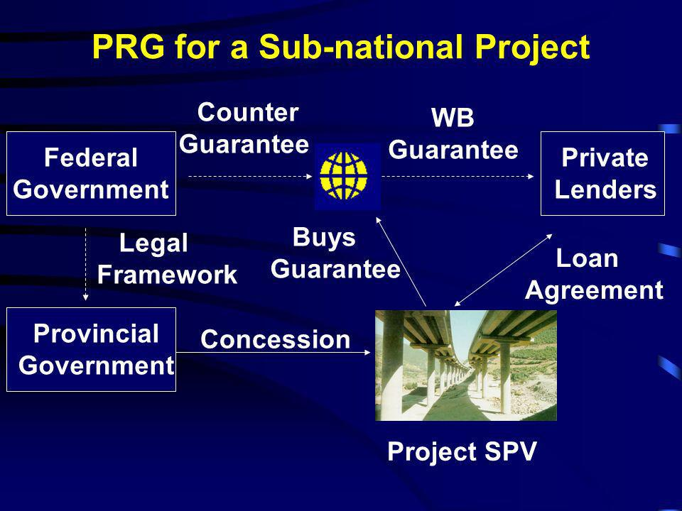 PRG for a Sub-national Project