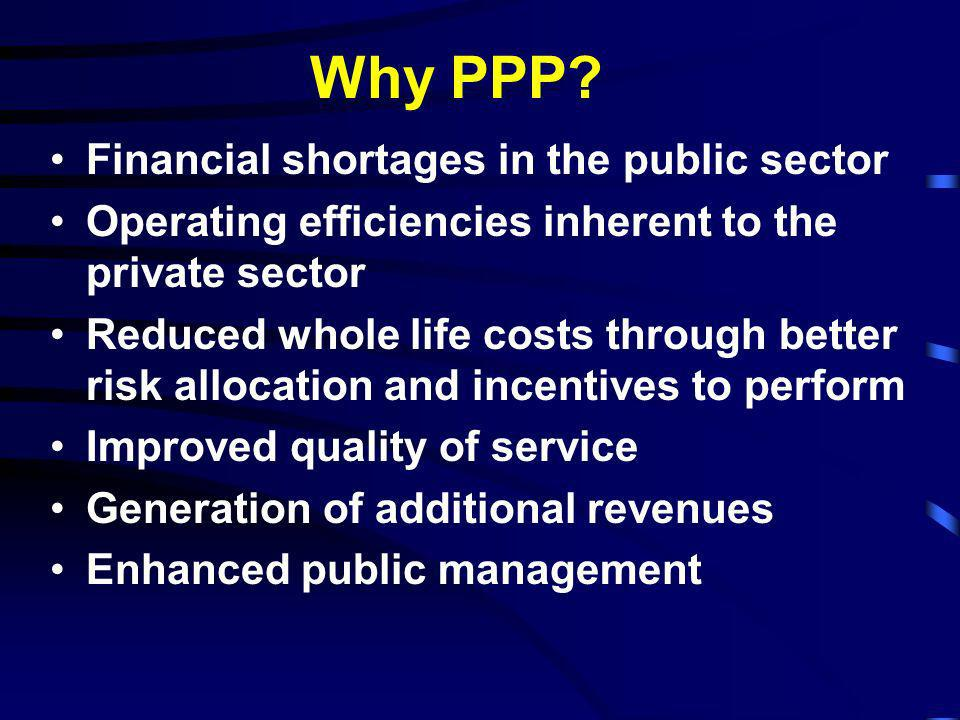 Why PPP Financial shortages in the public sector