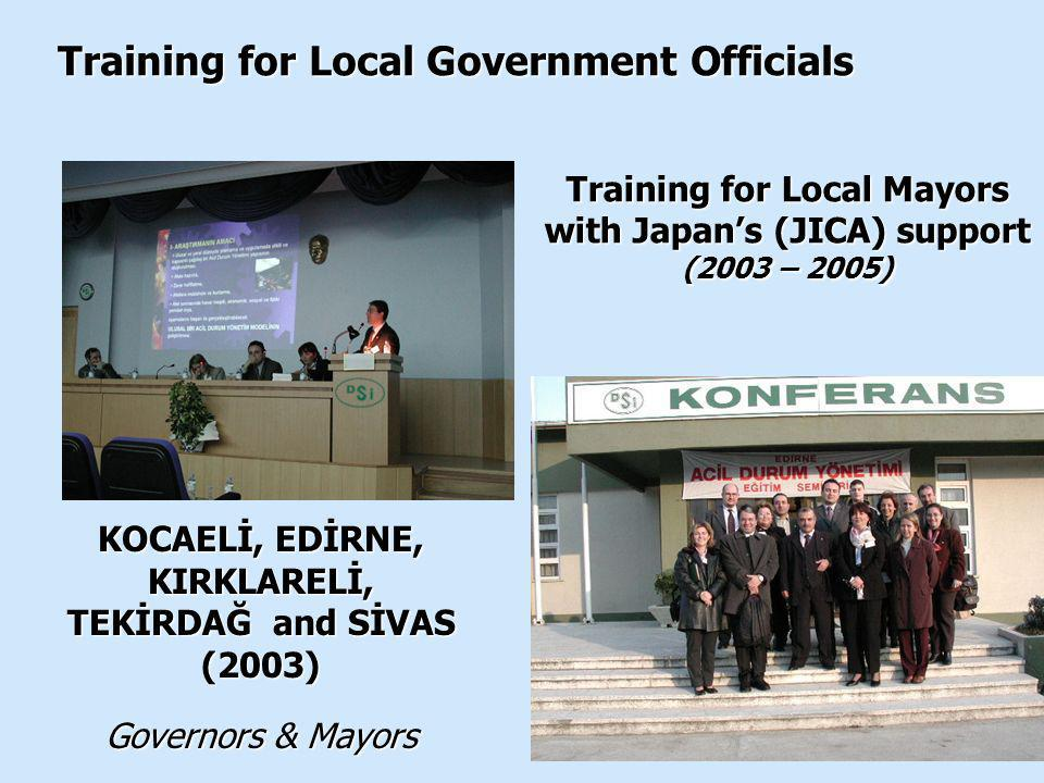 Training for Local Mayors with Japan's (JICA) support