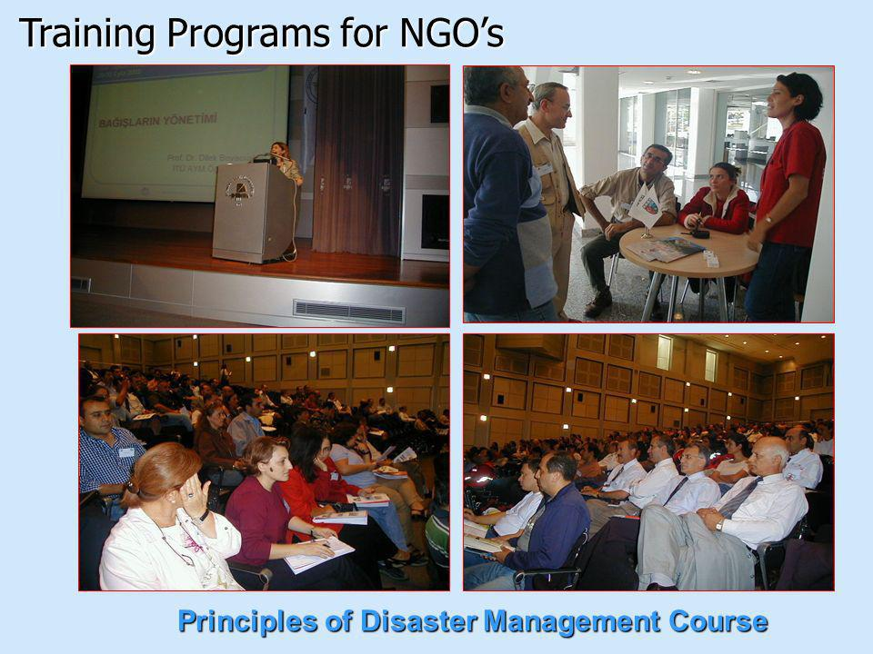 Principles of Disaster Management Course