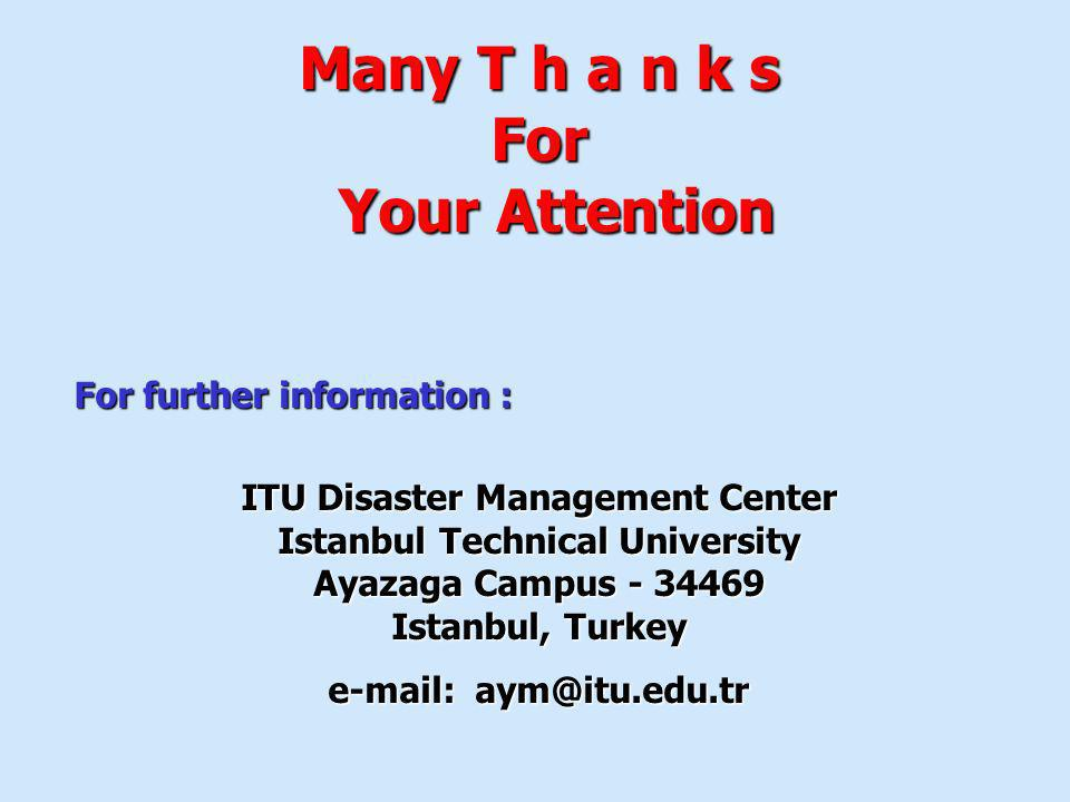 ITU Disaster Management Center Istanbul Technical University
