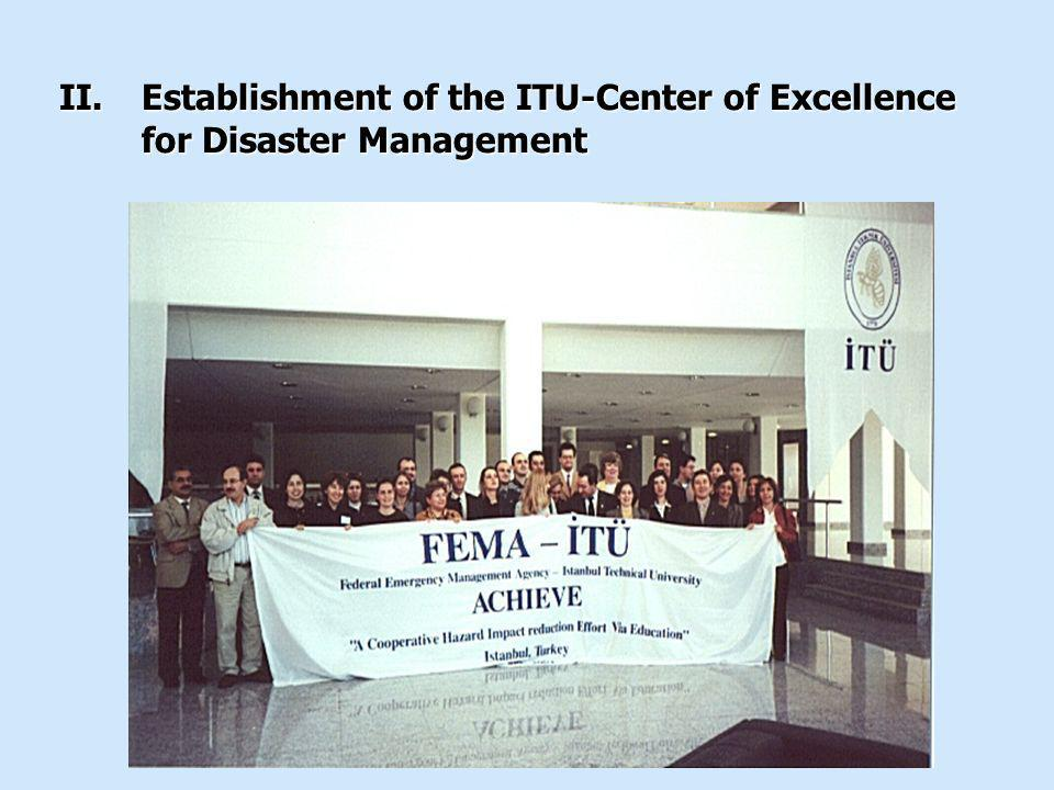 Establishment of the ITU-Center of Excellence for Disaster Management