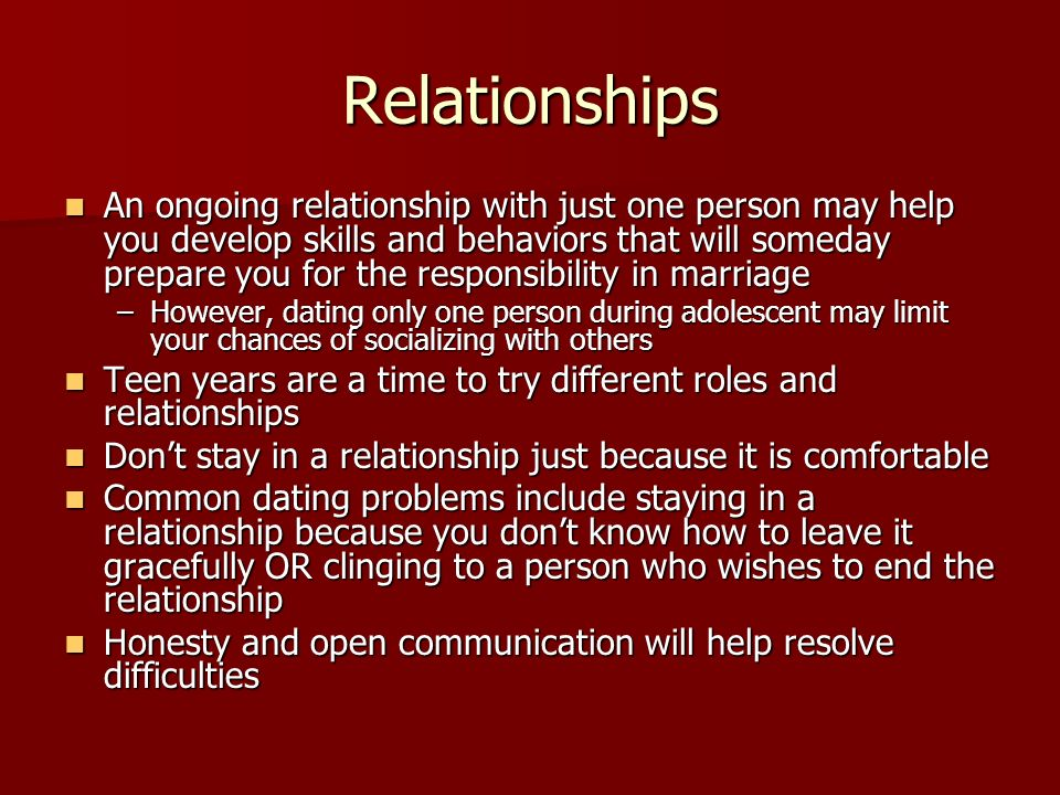 responsibilities and limits of your relationship with an individual