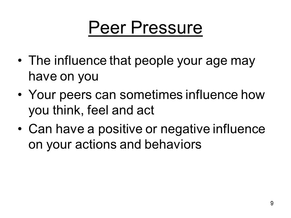 the influence of peer pressure They note that robots are being introduced to plenty of other domains where social influence could be important, including health care, education, and security  this robot peer pressure.
