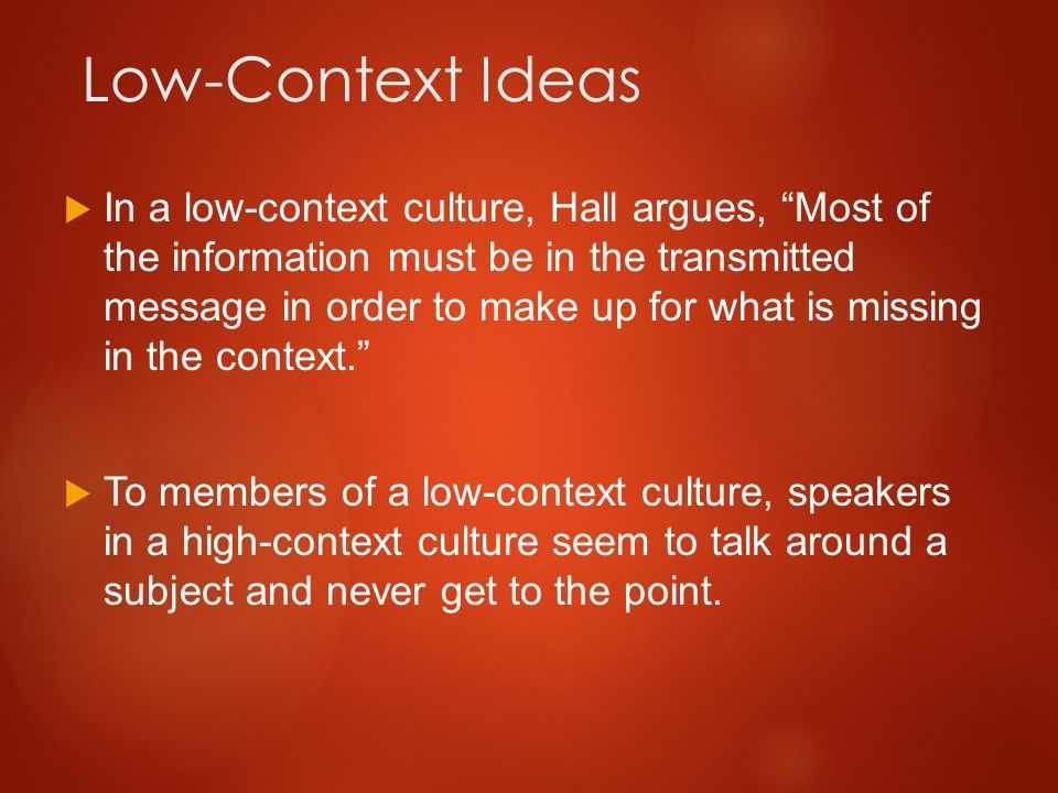 high and low context cultures pdf