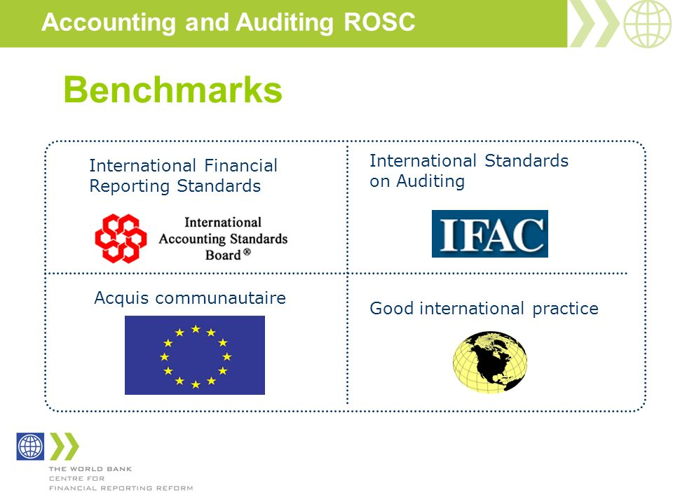 Accounting and Auditing ROSC Benchmarks