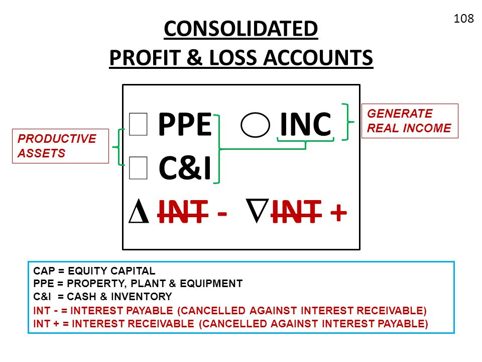 CONSOLIDATED PROFIT & LOSS ACCOUNTS