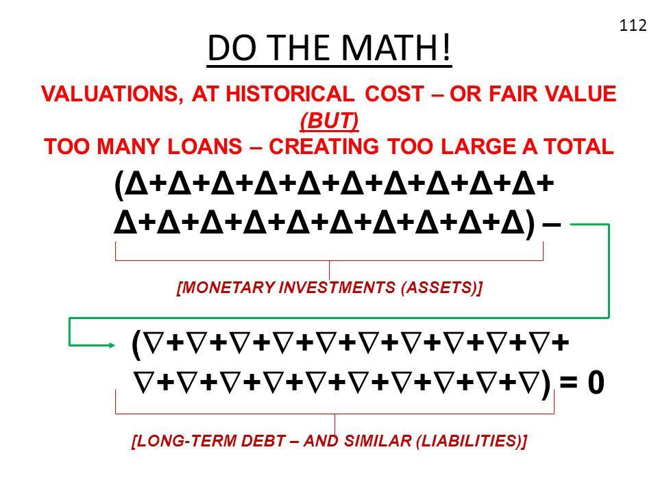 DO THE MATH! (Δ+Δ+Δ+Δ+Δ+Δ+Δ+Δ+Δ+Δ+ Δ+Δ+Δ+Δ+Δ+Δ+Δ+Δ+Δ+Δ) –