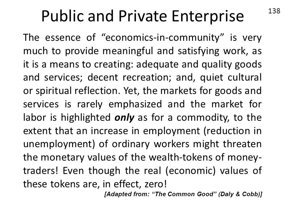 Public and Private Enterprise