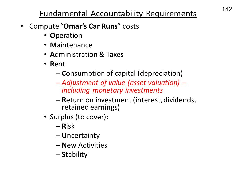 Fundamental Accountability Requirements