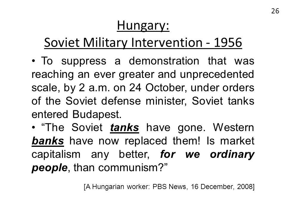 Hungary: Soviet Military Intervention - 1956