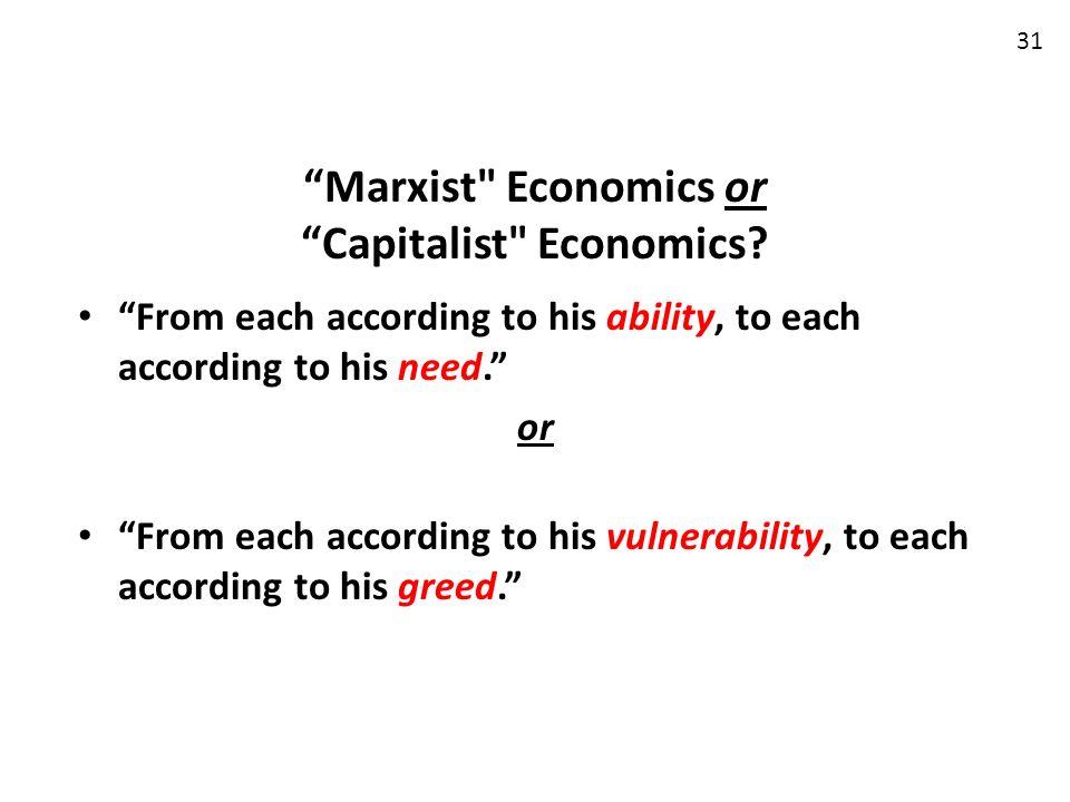 Marxist Economics or Capitalist Economics