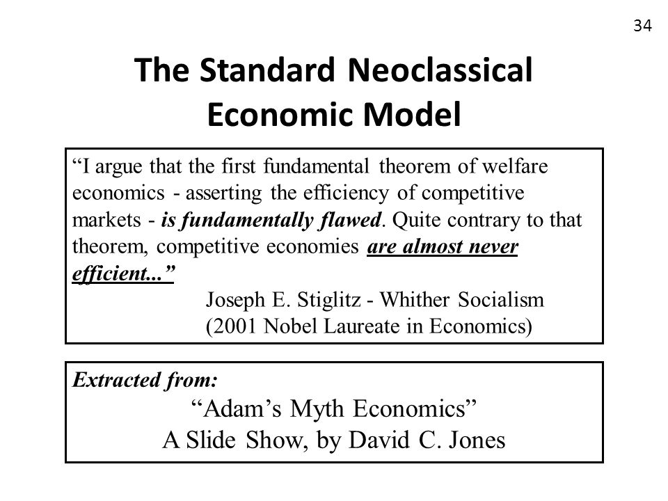 The Standard Neoclassical Economic Model