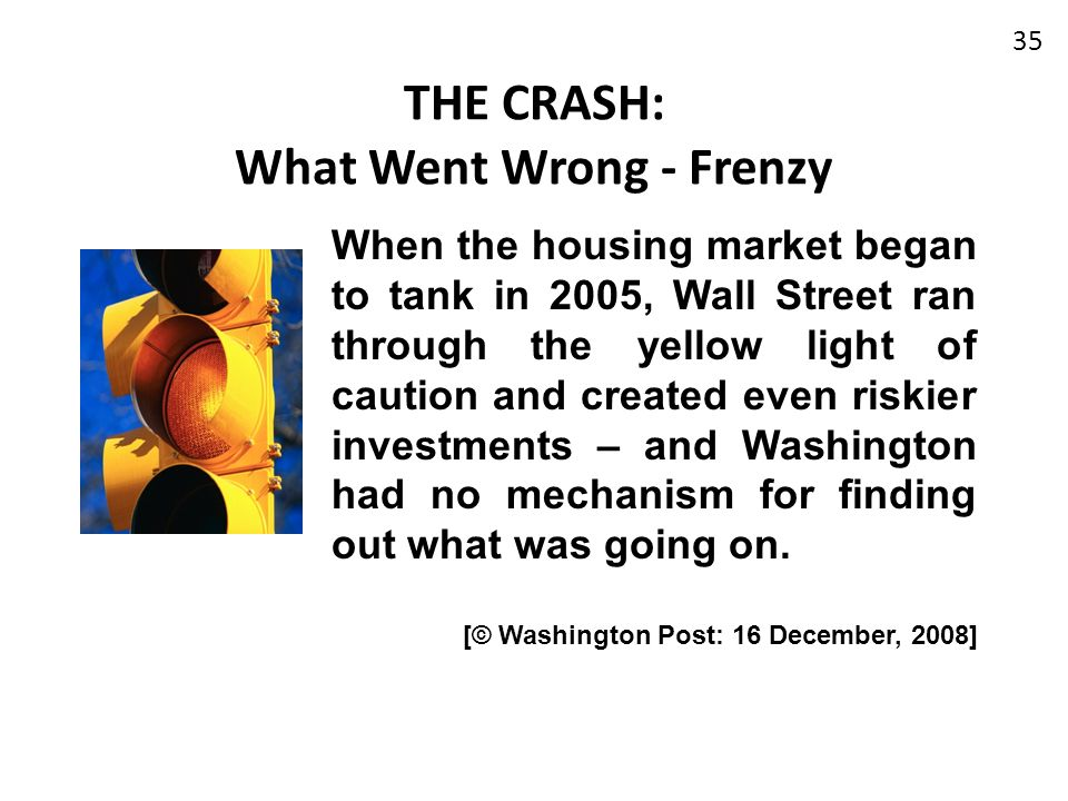 THE CRASH: What Went Wrong - Frenzy