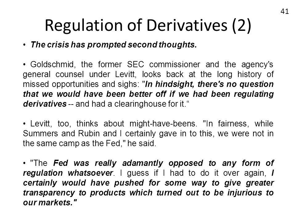 Regulation of Derivatives (2)