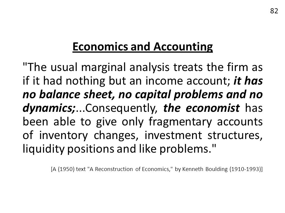 Economics and Accounting