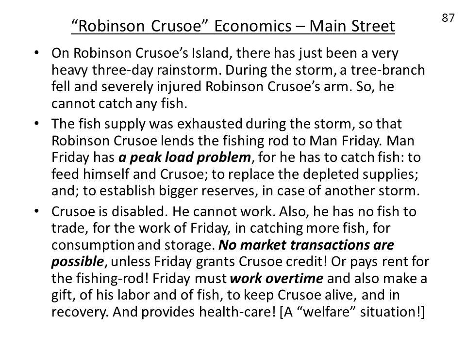 Robinson Crusoe Economics – Main Street