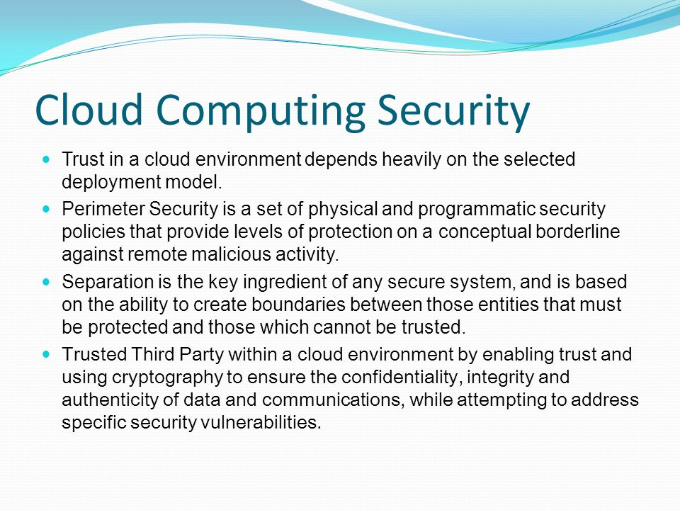 Master thesis cloud computing security