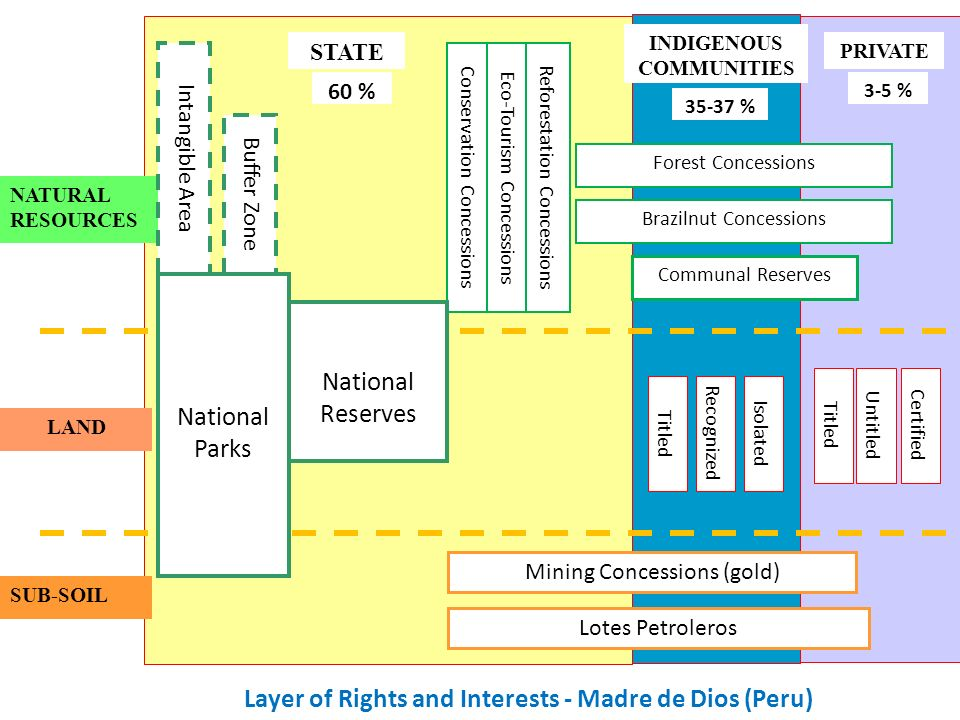 Layer of Rights and Interests - Madre de Dios (Peru)