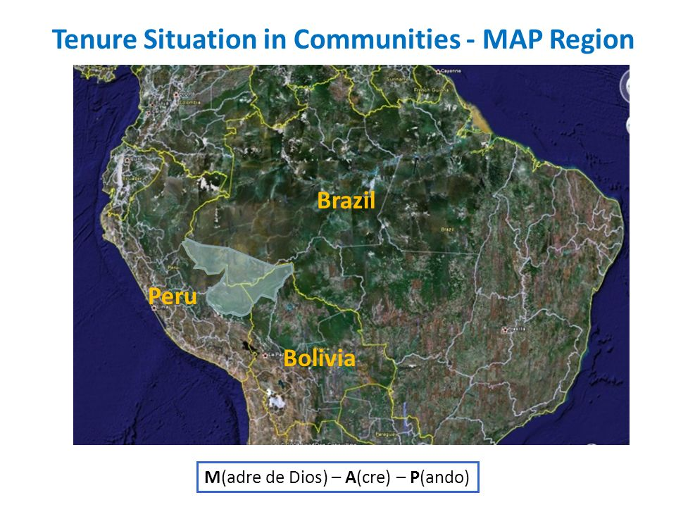 Tenure Situation in Communities - MAP Region