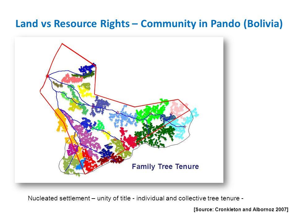 Land vs Resource Rights – Community in Pando (Bolivia)