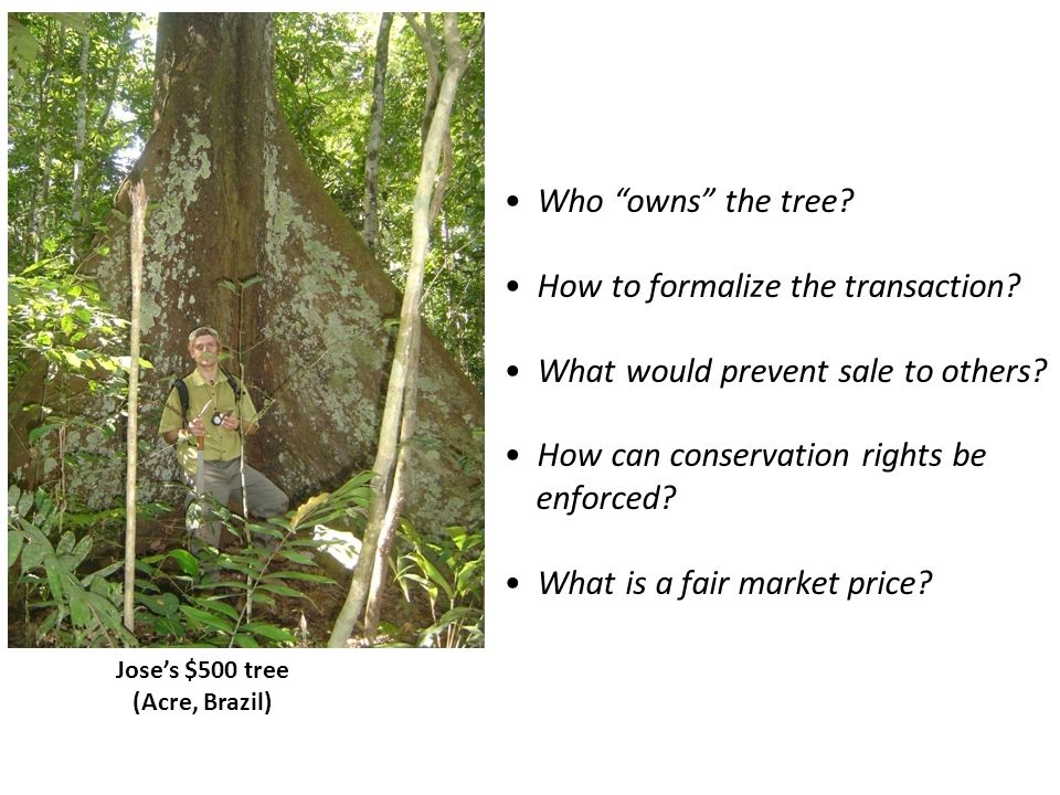 How to formalize the transaction What would prevent sale to others