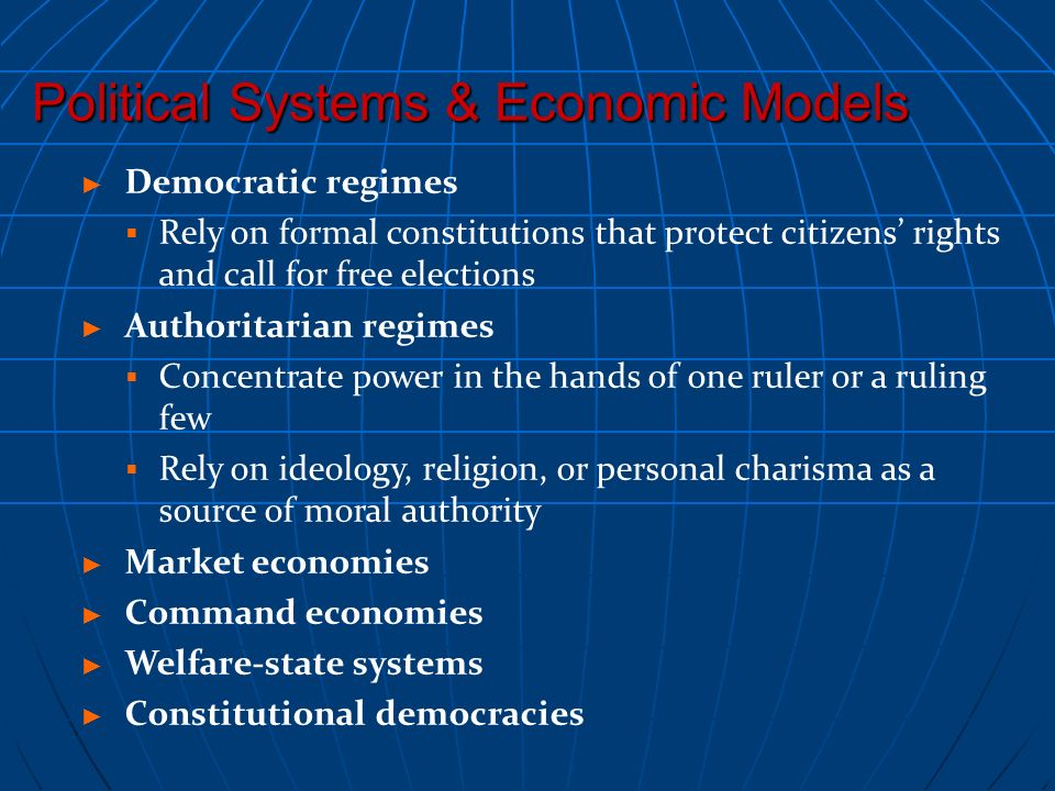 Political Systems & Economic Models