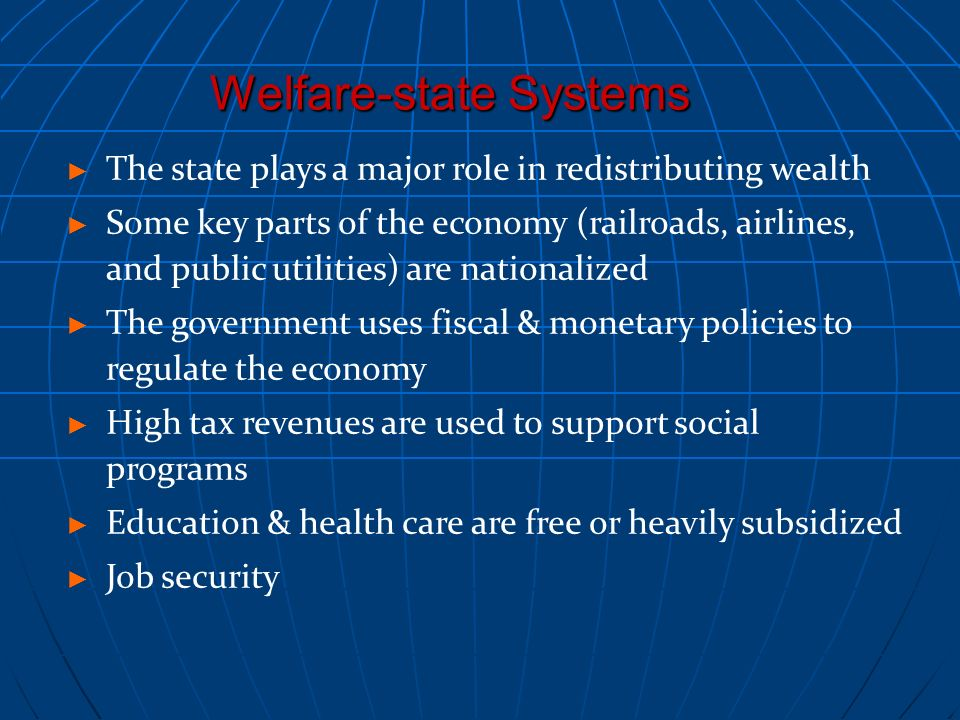 Welfare-state Systems
