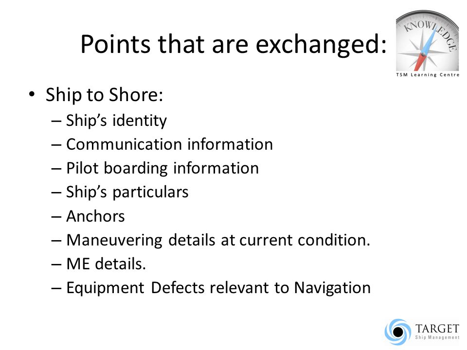 pilot embarkation check list