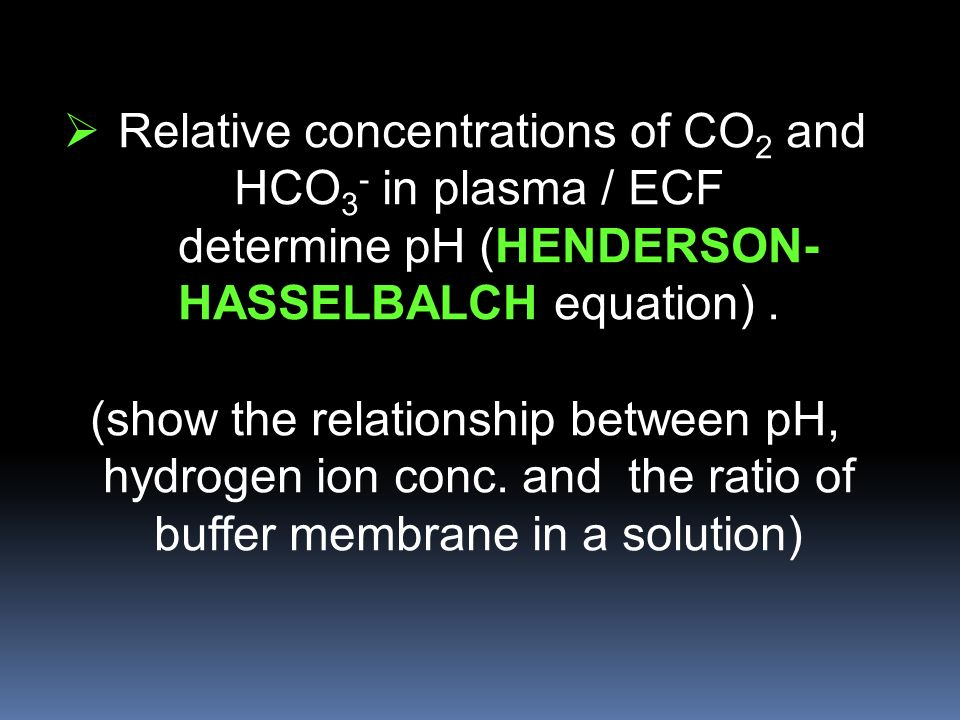 henderson hasselbalch equation given ph and pka relationship
