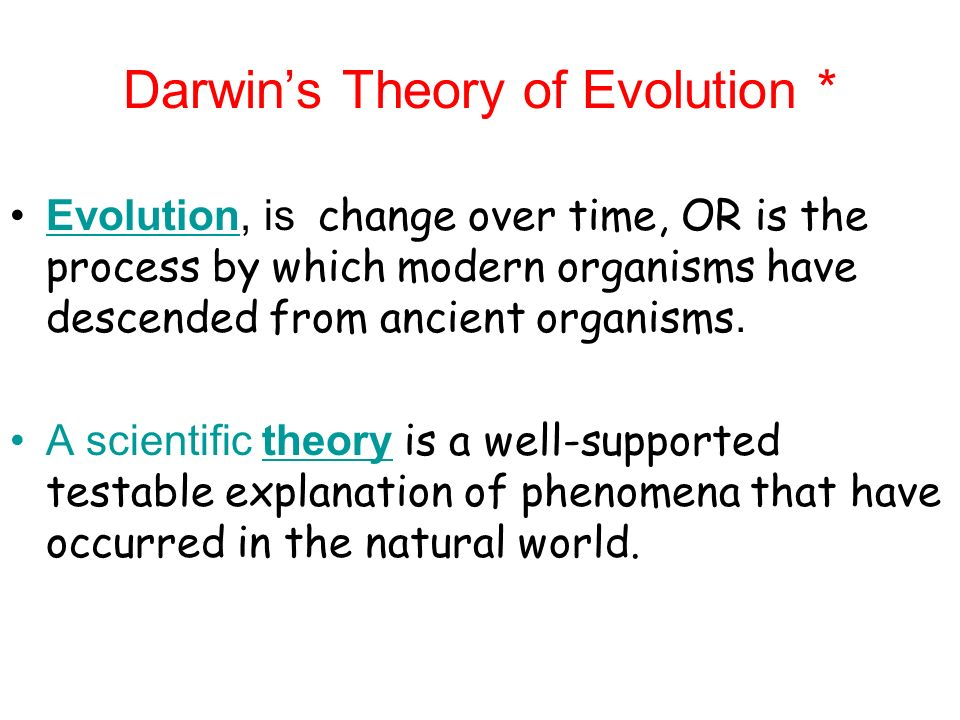 a scientific hypothesis on charles darwins theory of evolution Download pdf evolution: education and outreach  terminology science  language vernacular hypothesis fact theory evolution darwin.