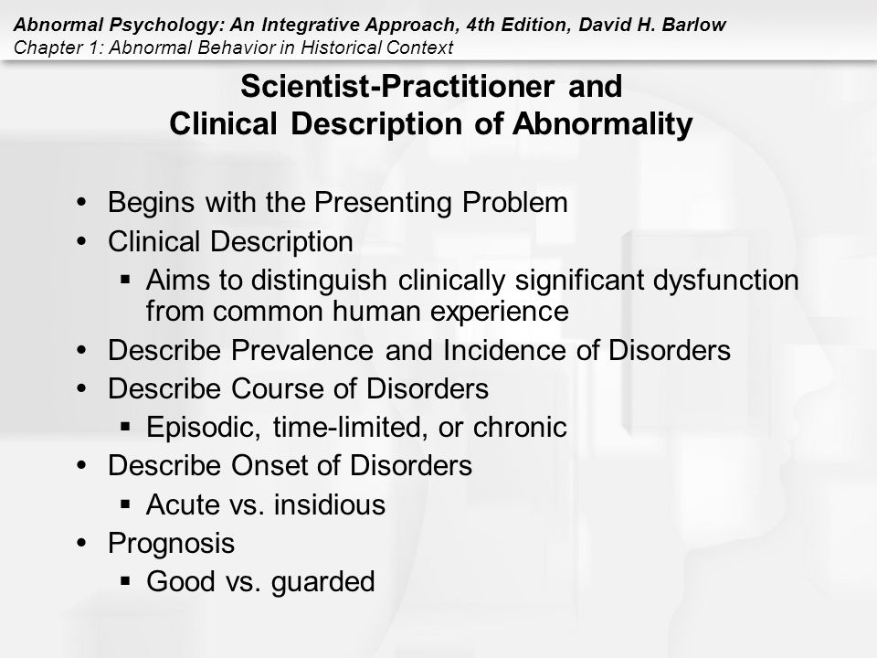 the description of various abnormal disorders in humans Browse image collection gallery allergic skin disorders learn how to identify various allergic skin conditions such as eczema, psoriasis, contact dermatitis, and more see how these common conditions affect the body's largest organ, your skin.