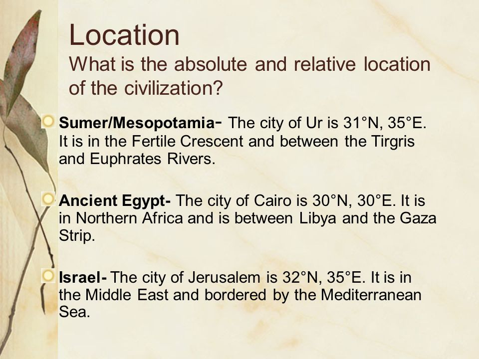 The Five Themes Of Ancient Civilizations Ppt Video Online Download - Jerusalem absolute location