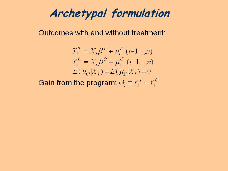 Archetypal formulation