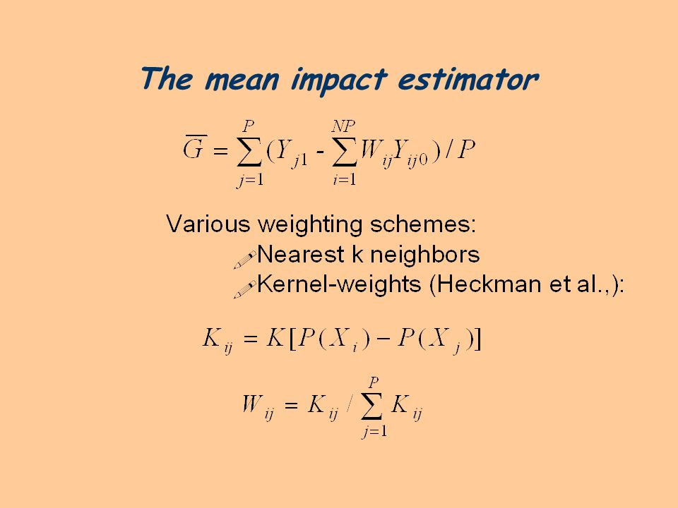 The mean impact estimator