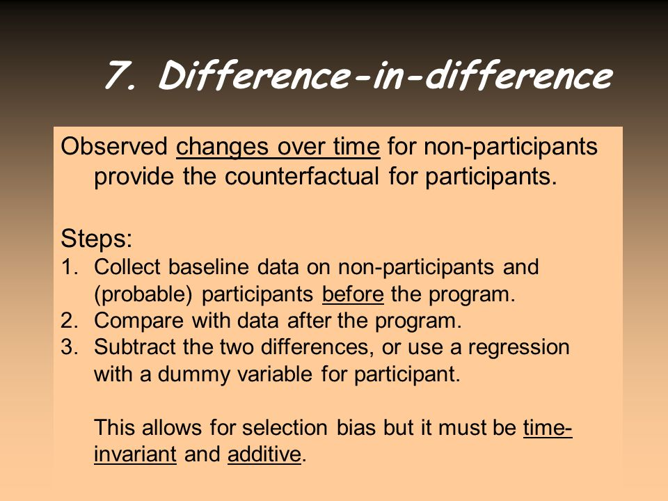 7. Difference-in-difference