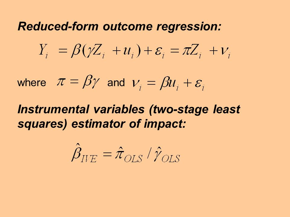 Reduced-form outcome regression:
