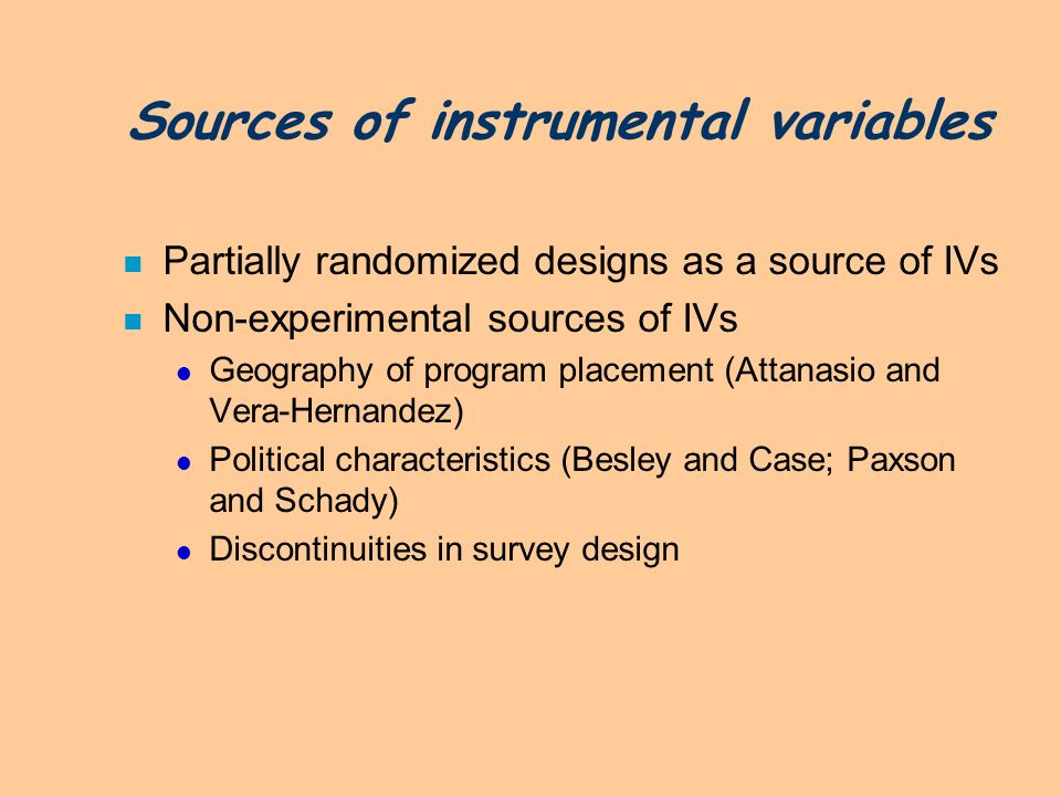 Sources of instrumental variables