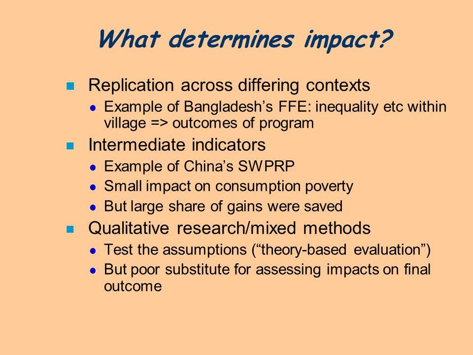 What determines impact