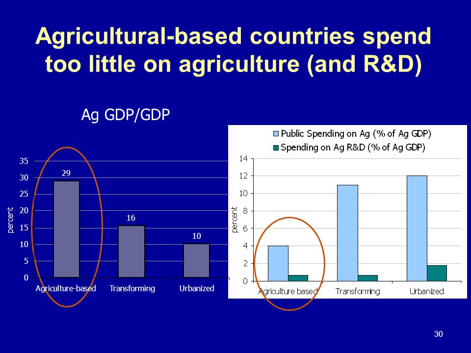 Agricultural-based countries spend too little on agriculture (and R&D)