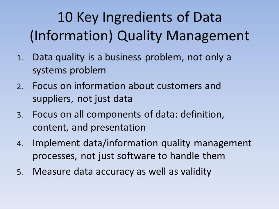 Quality Data Management Definition