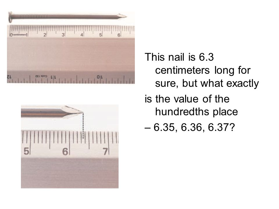 This nail is 6.3 centimeters long for sure, but what exactly