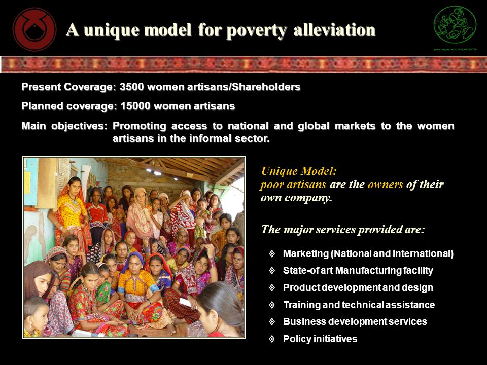 A unique model for poverty alleviation