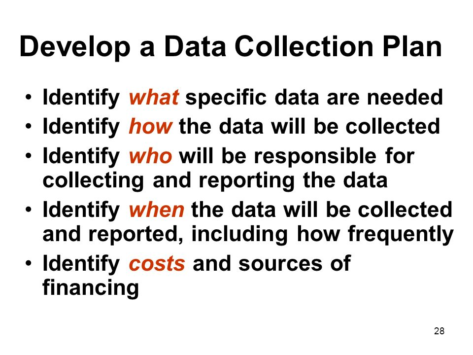 Develop a Data Collection Plan