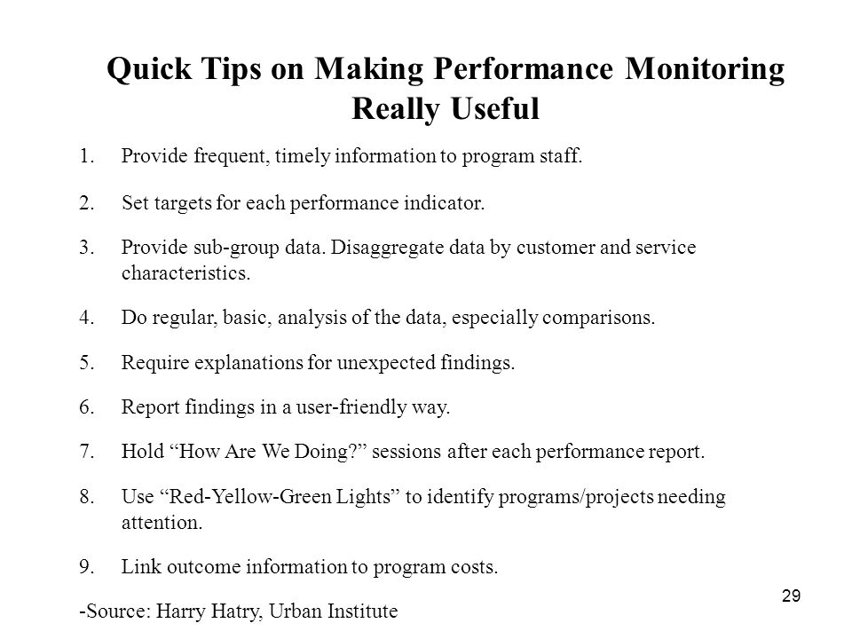 Quick Tips on Making Performance Monitoring Really Useful