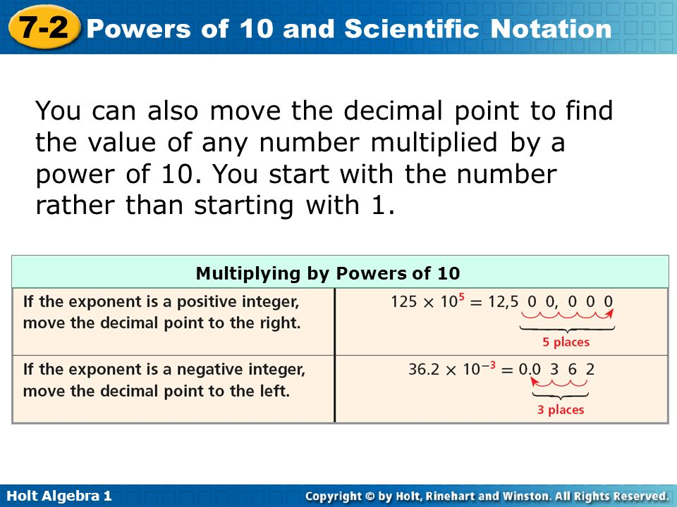 Number 10 Can Warmer ~ Powers of and scientific notation warm up lesson