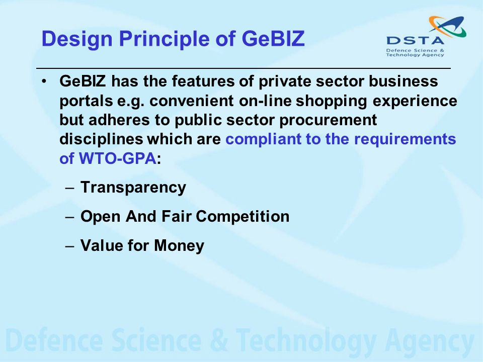 Design Principle of GeBIZ